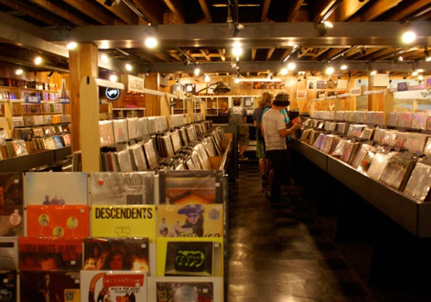 The basement at the old Sonic Boom storefront in Toronto. Photo from their website.